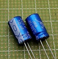CONDENSATORI ELETTROLITICI 10uF 400V 105 GRADI LOW ESR VERTICALI JB COPPIA