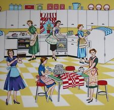 Michael Miller Retro Kitchen fabric HOME EC- sold by the yard.