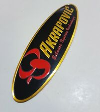 AKRAPOVIC exhaust sticker Oval - Heat Proof - Self Adhesive - bike  FAST POST