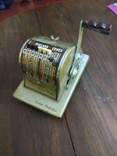 Paymaster Ribbon Writer Manual Check Ink Press Printer w/Locked Protection & Key