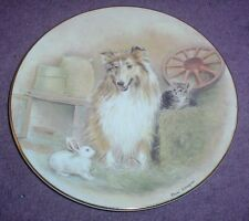 Royal Worcester 150th Anniversary Of The RSPCA THREE'S COMPANY Plate