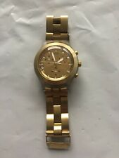 """Clear and Gold 2005 Swatch Irony """"Full-Blooded"""" Women's Chronograph - Works"""