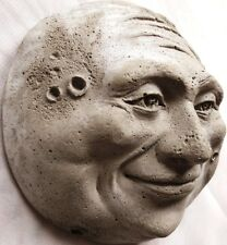 Cute Full Moon Sculpture Hangs on a Door, Quality Cast Stone Offered by Artist