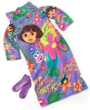 SNUGGIE Kids DORA THE EXPLORER Slipper Socks Fleece Blanket Robe As seen on TV