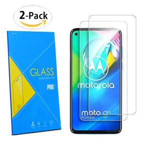"2 x 100% Genuine TEMPERED GLASS Screen Protector for Motorola Moto G8 Power 6.4"""