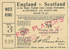 Rugby Union Tickets & Stubs