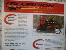 2000 Vintage SCORPION Snowmobile Brochure