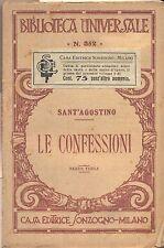 Le confessioni  Sant'Agostino    Universale Sonzogno 352