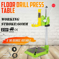 Floor Drill Press Table 0~90º Rotary Drill Stand Holder Transparent Pointer
