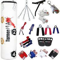 Heavy Target Punch Bag Set Boxing Kit Kickboxing Punchbag Gloves Wall Bracket