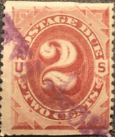 Scott #J16 US 1887 2 Cents Postage Due Stamp XF NH