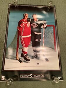 RARE1989 NIKE MR. HOCKEY HOWE and GREAT ONE GRETZKY POSTER