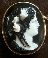 Rarest Museum Quality Antique Georgian Hardstone Four Layer Cameo by Amastini