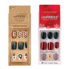 2 Christmas Impress Nails -Set Of 2 Mix And Match Couture Limited Edition