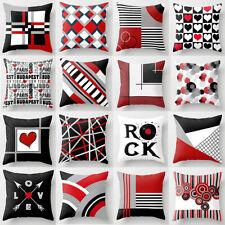 """18""""x18"""" Red Pillow Case Sofa Car Waist Throw Cushion Cover Pillowcase Home Decor"""