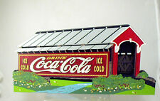 Shelia's Cover Your Thirst Drink Coca Cola-Covered Bridge Country Road-Americana