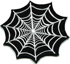 Spider web spiderweb retro boho tattoo sew sewing applique iron-on patch G-26