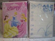 Princess 5 Party Karten mit Umschlägen Karte Einladungskarte Deko GAC M15