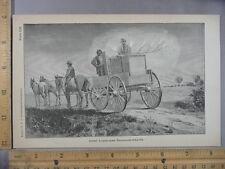 Rare Antique Orig VTG Jones Large Tank Broadcast Sprayer Illustration Art Print