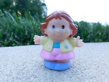 Fisher Price Little People 2000 Girl in Yellow Jacket