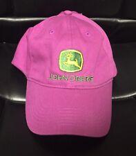 I Love John Deere Baseball Cap Trucker Hat Purple Green I Heart John Deere NEW!