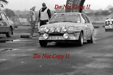 Jimmy McRae Vauxhall Chevette 2300 HSR RAC Rally 1980 Photograph 1