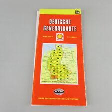 Germany Shell 1977 VTG map section 24 Freiburg Konstanz