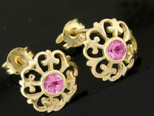 Pink Natural Sapphire Fine Earrings