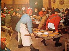 Pieter Brueghel d.Ä : Bauernhochzeit; Kunstdruck 208 Kunstkreis Luzern 60x48cm