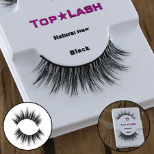 100%Real Mink Natural Thick Long False Eyelashes Eye Lashes Makeup Extension