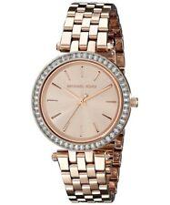 Michael Kors Mini Darci MK3366 Baguette Crystal Rose Gold Ladies Watch
