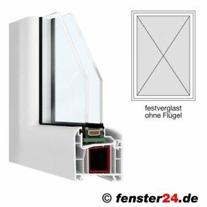 FeboBasic Breite 600mm x wählbare Höhe in weiß, feststehend ohne Flügel Kun ...