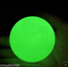 Hot 70mm Rare Giant Stone Glow In The Dark Stone Ball green + stand