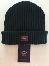 NEW Paul & Shark Winter Hat Capello Cap Beanie DARK GREEN