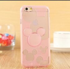 Mickey Mouse Silicone Case Cover iPhone 6/6s. Pink. Xmas
