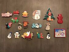 18 Piece Lot of  Vintage-Modern Christmas Refrigerator Magnets