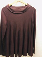 Cos Maroon Burgandy Machine Washable Wool Oversized Sweater Jumper Size M