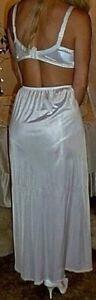 White Silky with Lacy Hem Long Formal Length Half Slip Petticoat L-XL-XXL BNWT
