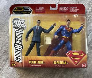 """NEW! DC Super Heroes Select Sculpt S3 Classics 6"""" Superman & Clark Kent Figures"""