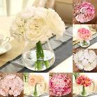 Roses Peony Bridal Hydrangeas Silk Flower White Wedding Decor Bridesmaid Bouquet