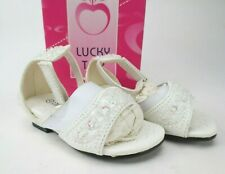 Lucky Top Toddler Girls Shoes Size 4 White