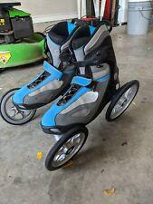 Men Size 11 Terra 9 Inline Angled Wheel Rollerblades Skates Landroller