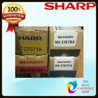Original Sharp MX27 CYMK SET FOR MX-2300N, 2700N, 2700NJ, 6500N, 3501N, 4500N,