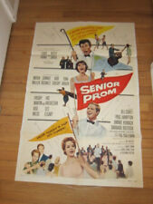 SENIOR PROM original 1958 poster Louis Prima Keely Smith musical Tom Laughlin