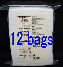 12 bags MUJI Organic Facial Cut Cotton pad puff 1980 sheets 65x50mm /With tracki