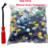 500PCS Push Pin Mixed Door Trim Panel Clip Fastener Bumper Rivet Retainer Tool