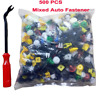 500x Push Pin Mixed Door Trim Panel Clip Fastener Bumper Rivet Retainer tool Lot