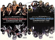 Walking Dead Compendium Graphic Novel Series Collection Set One 1 And Two 2 NEW!