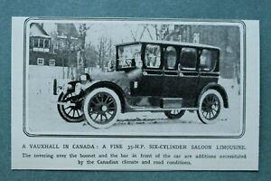 WL11x) Vauxhall Kanada 1914 6-Zylinder Saloon Limousine Auto Oldtimer 10,5x6,5cm