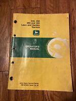 JOHN DEERE 240,260,265,285 Tractors OMM78991 Operator's Manual Book